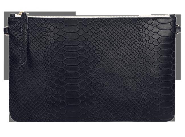 Pochette en cuir et python vAb9azNK